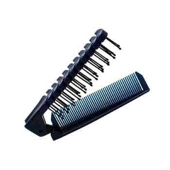 49093 - Folding Plastic Comb & Brush Combination