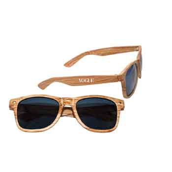 SG001W - Faux Wood Frame Sunglasses