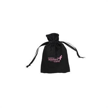 TR1612 - Small Faux Suede Drawstring Pouch
