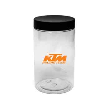 TR5321 - Clear Jar with Black Lid
