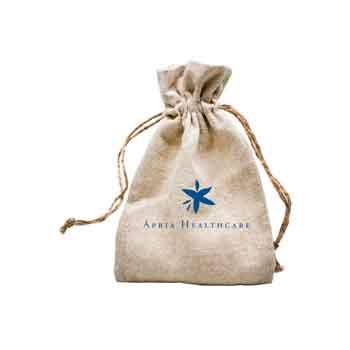 TR6410 - Natural Linen Bag with Hemp Cord