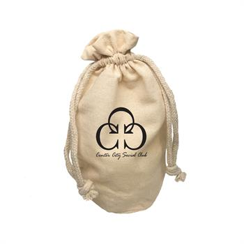 TR9266 - X-Large Round Bottom Muslin Cotton Pouch