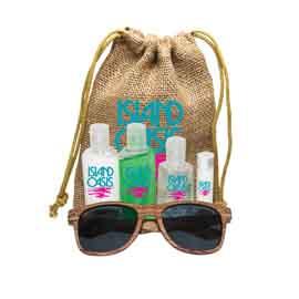 Jute Sun Kit with Faux Wood Frame Sunglasses