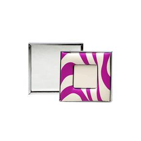 Stylish Zebra Print 2-in-1 Picture Frame & Cosmetic Mirror with Purse-Like Pouch
