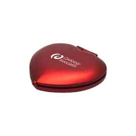 Red Heart Metal Compact Mirror