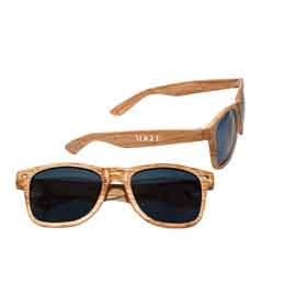 Faux Wood Frame Sunglasses