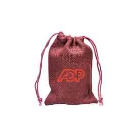 Medium Natural Jute Drawstring Bag