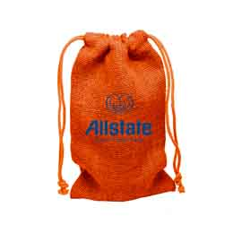 Large Natural Jute Drawstring Bag
