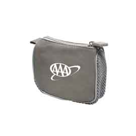 Gray Compact Amenity Bag
