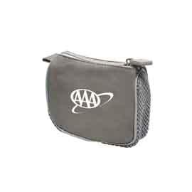 Gray Compact Amenity Bag
