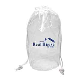 Large Clear Drawstring Bag