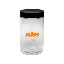 Clear Jar with Black Lid