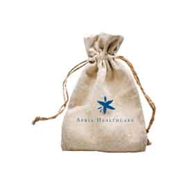 Natural Linen Bag with Hemp Cord