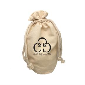 X-Large Round Bottom Muslin Cotton Pouch